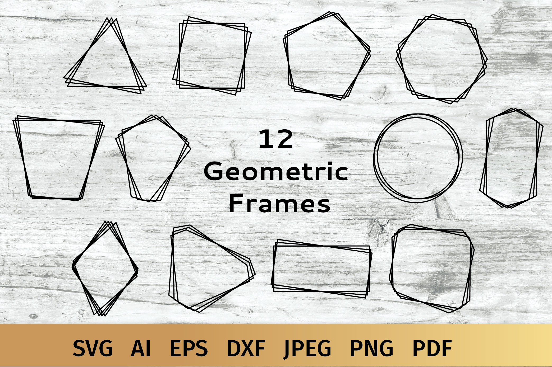 Geometric Frames SVG example image 1