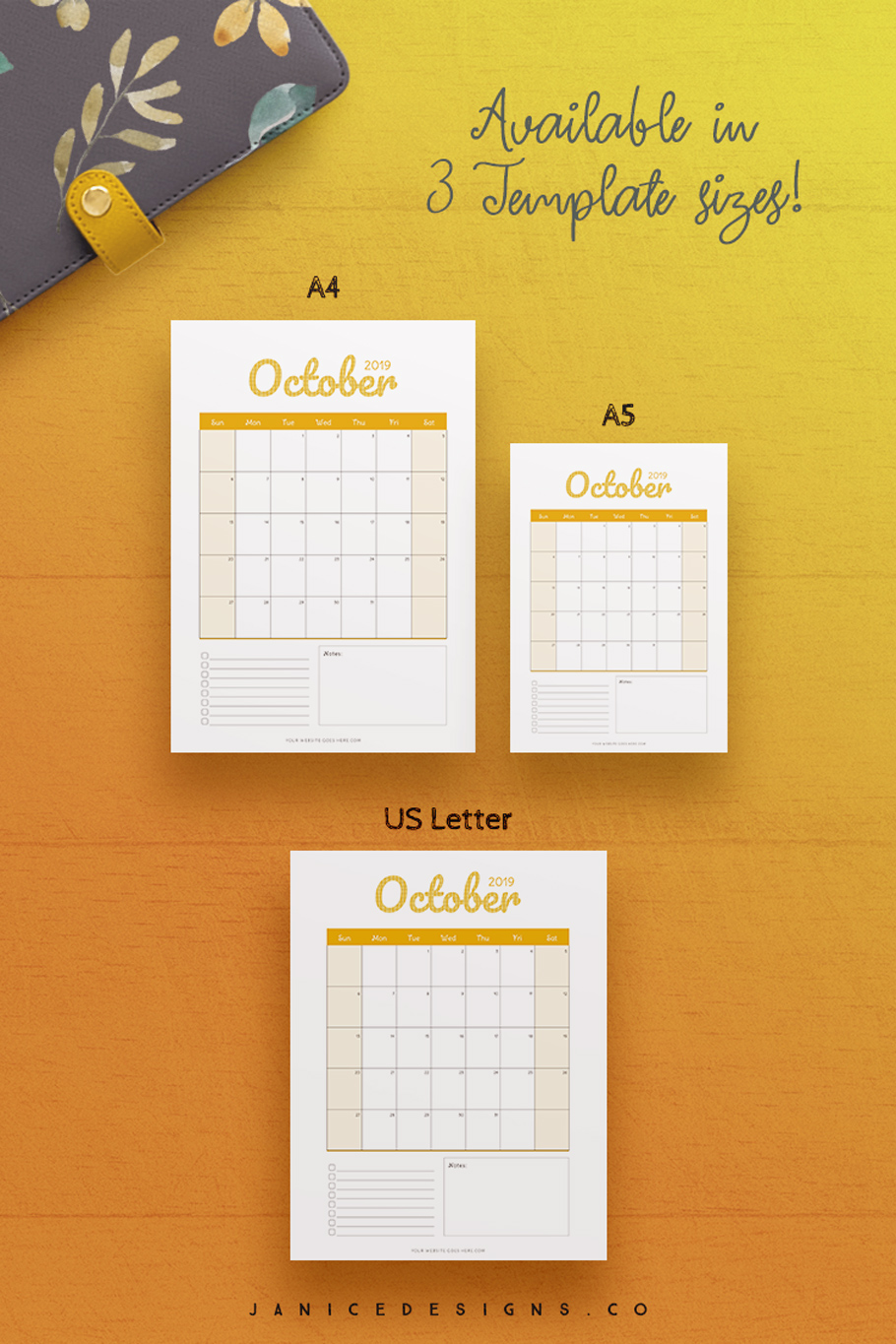 2019 Calendar InDesign Template for Commercial Use example image 6
