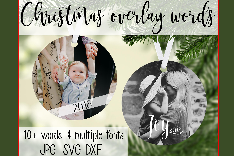 Christmas Overlay Words example image 1