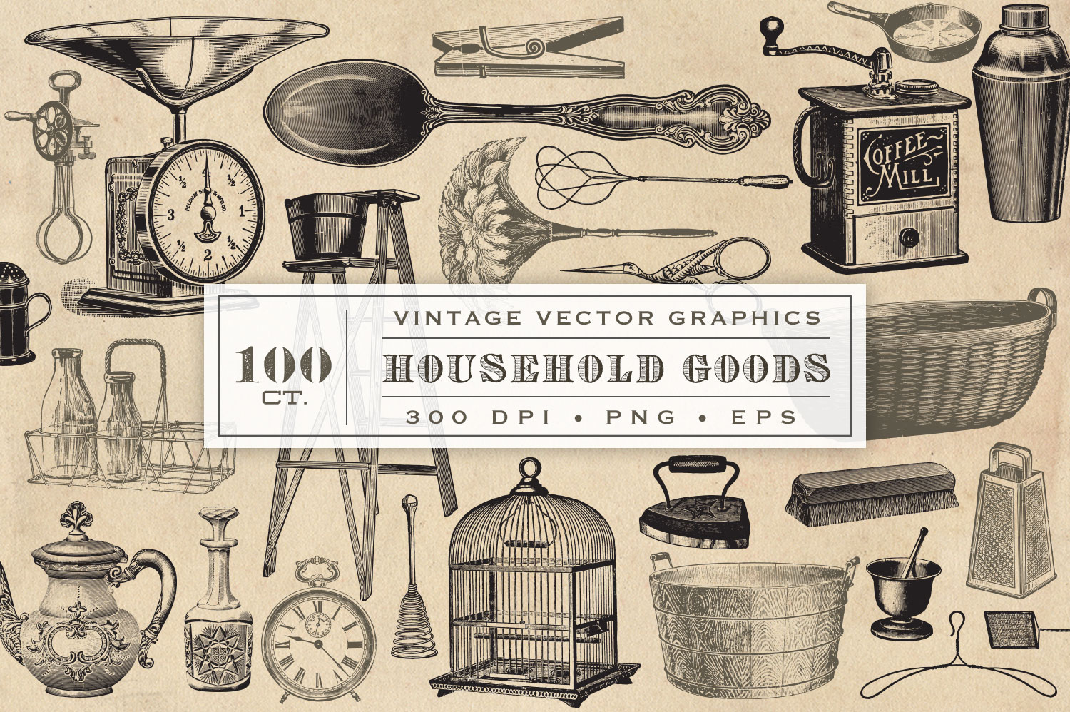 Household Goods Vector Graphics example image 1