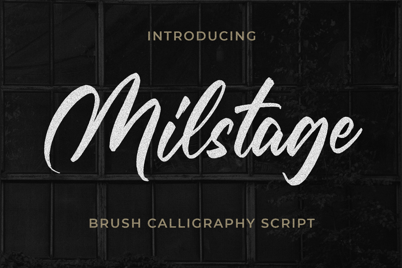 Milstage - Brush Calligraphy Script example image 1