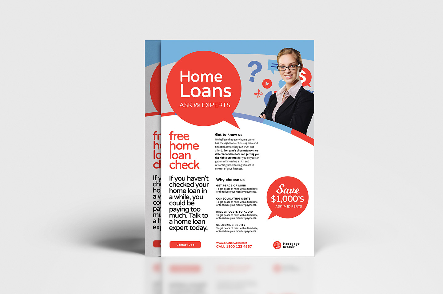 A4 Modern Corporate Advertisement Templates example image 3
