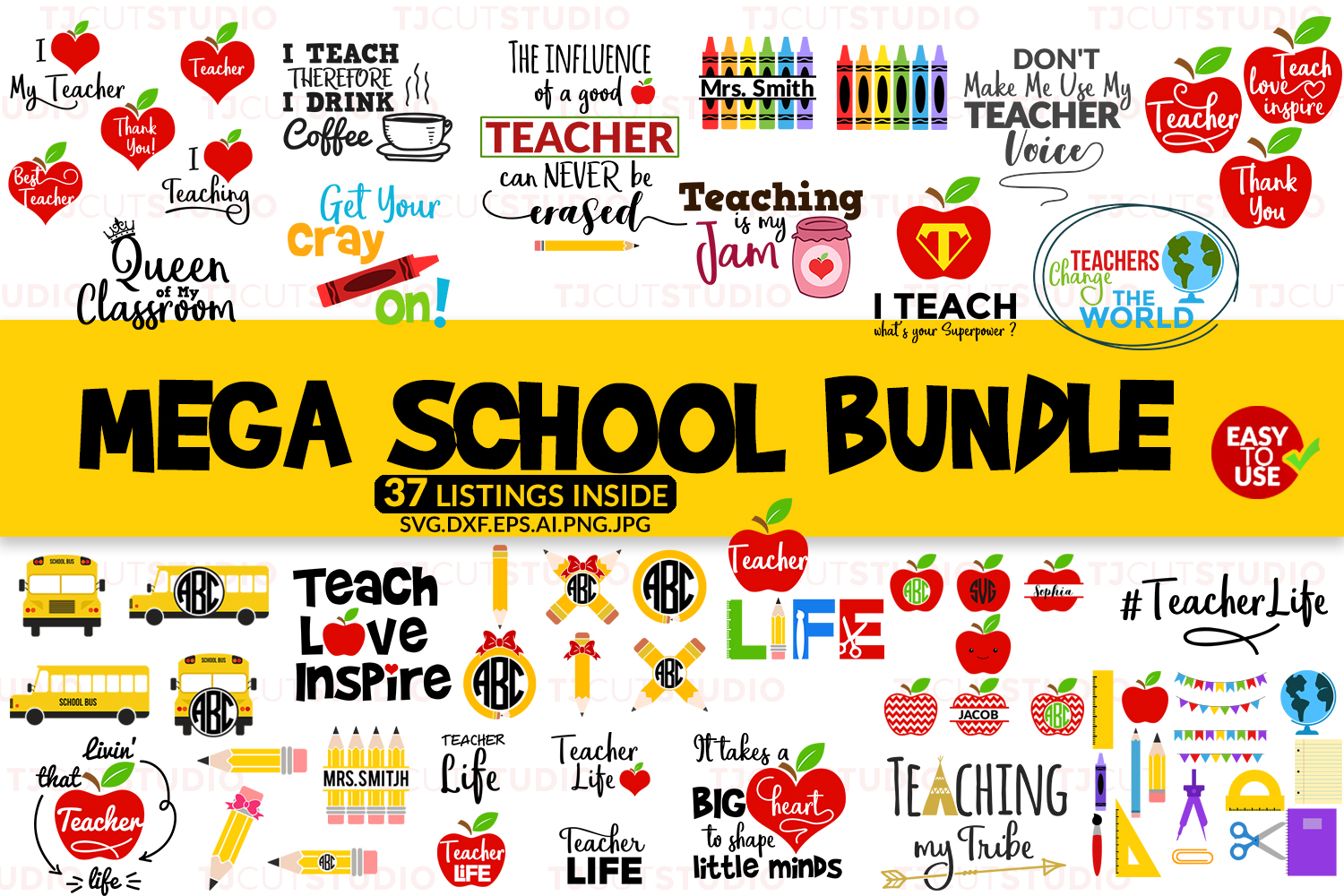 The Mega SVG Bundle example image 8