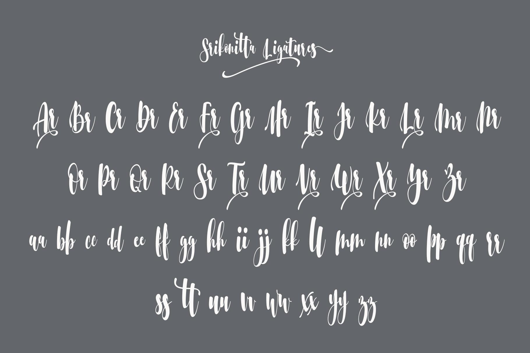 Srikonitta Script  FREE Vectors example image 8