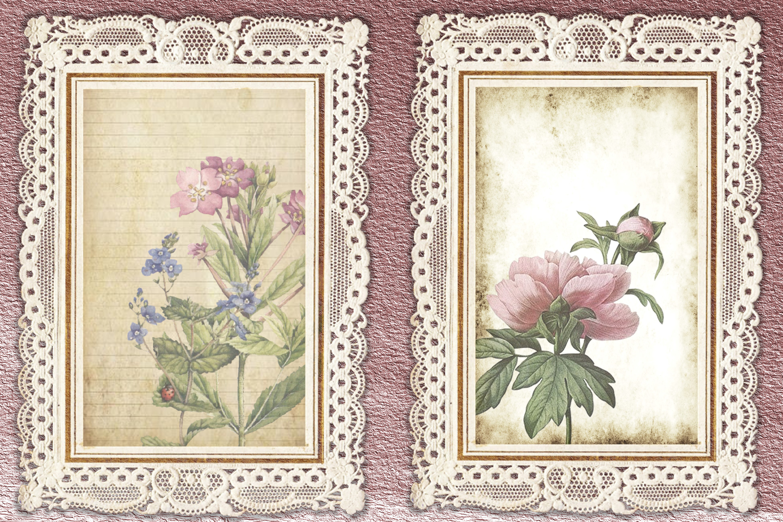 Journaling Kit Pink Botanicals with free ephemera & clipart example image 2