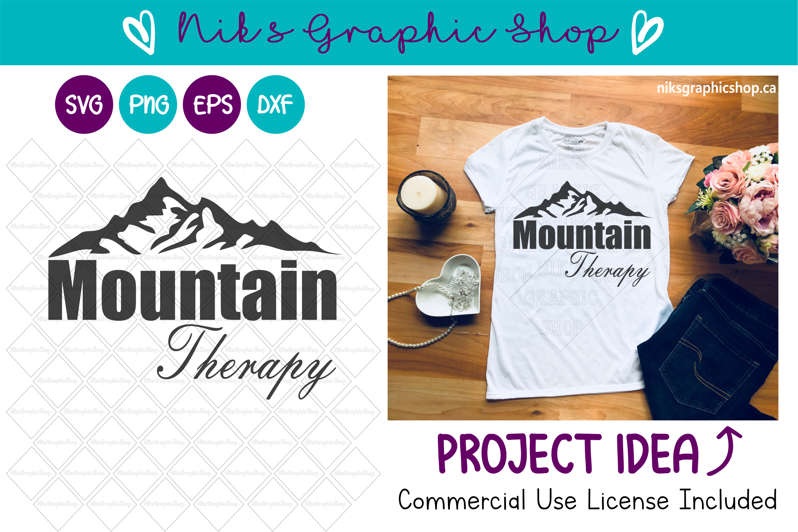 Mountain Therapy Svg, Mountain Svg, Therapy Svg, Mountains example image 1