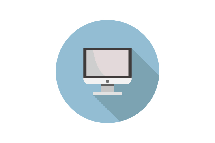 Computer monitor icon example image 1