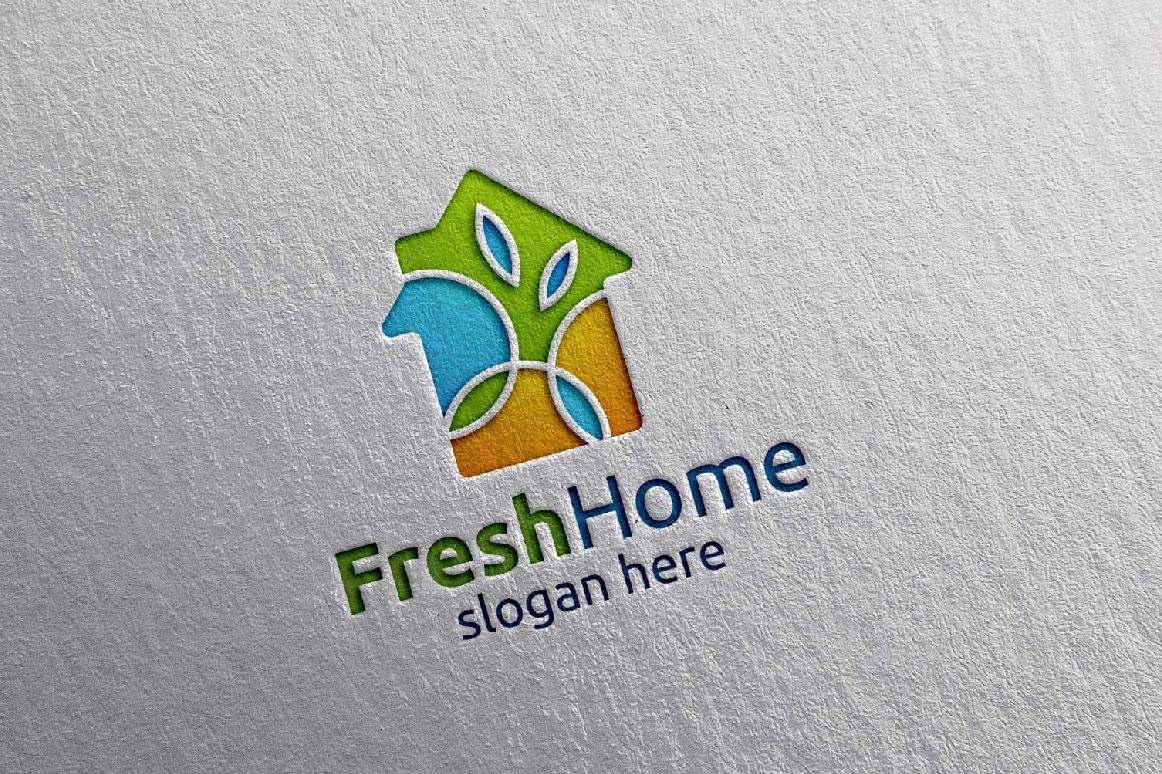 Real estate Logo, Fresh Home Logo 7 example image 2