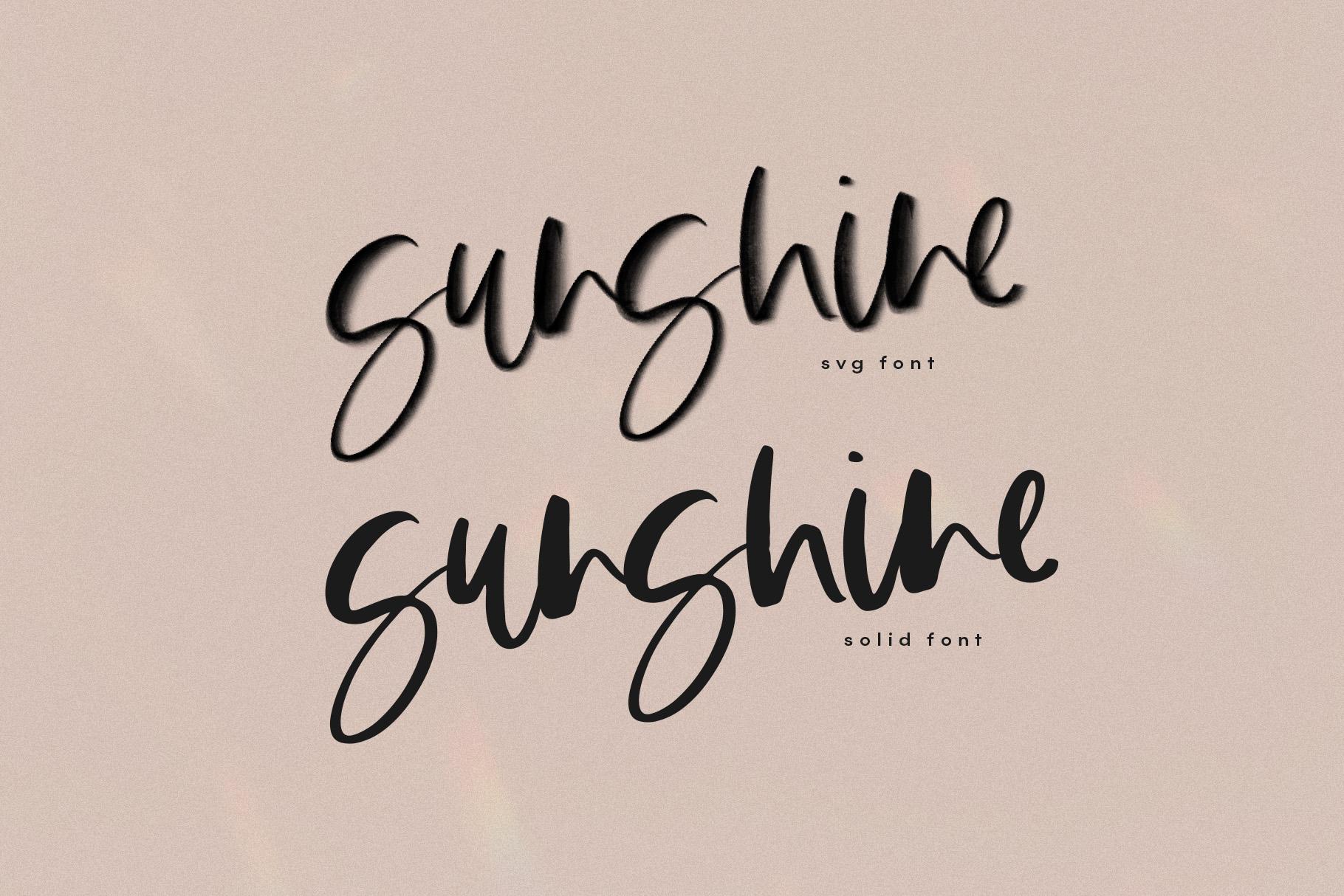 The Sunlight - A Handwritten SVG Script Font example image 7