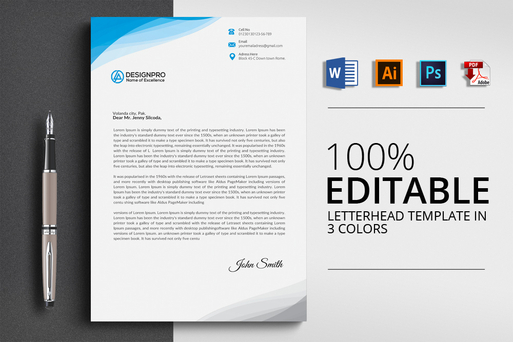 Professional Letterhead Design example image 1