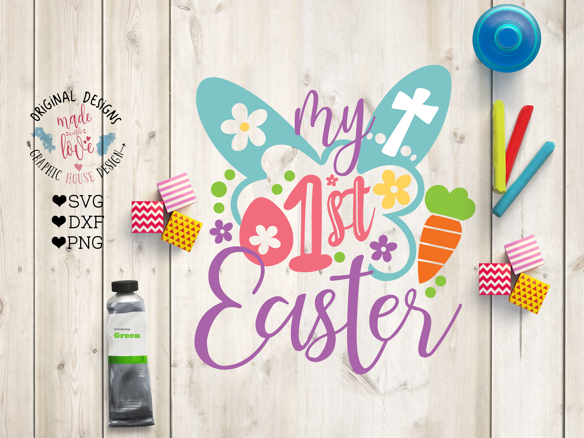 My First Easter Cut File example image 1