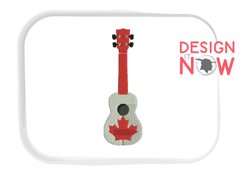 Canada Flag Embroidery Design, Map Embroidery Design, Guitar example image 2
