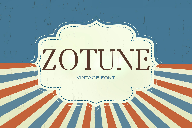 Zotune Font example image 1