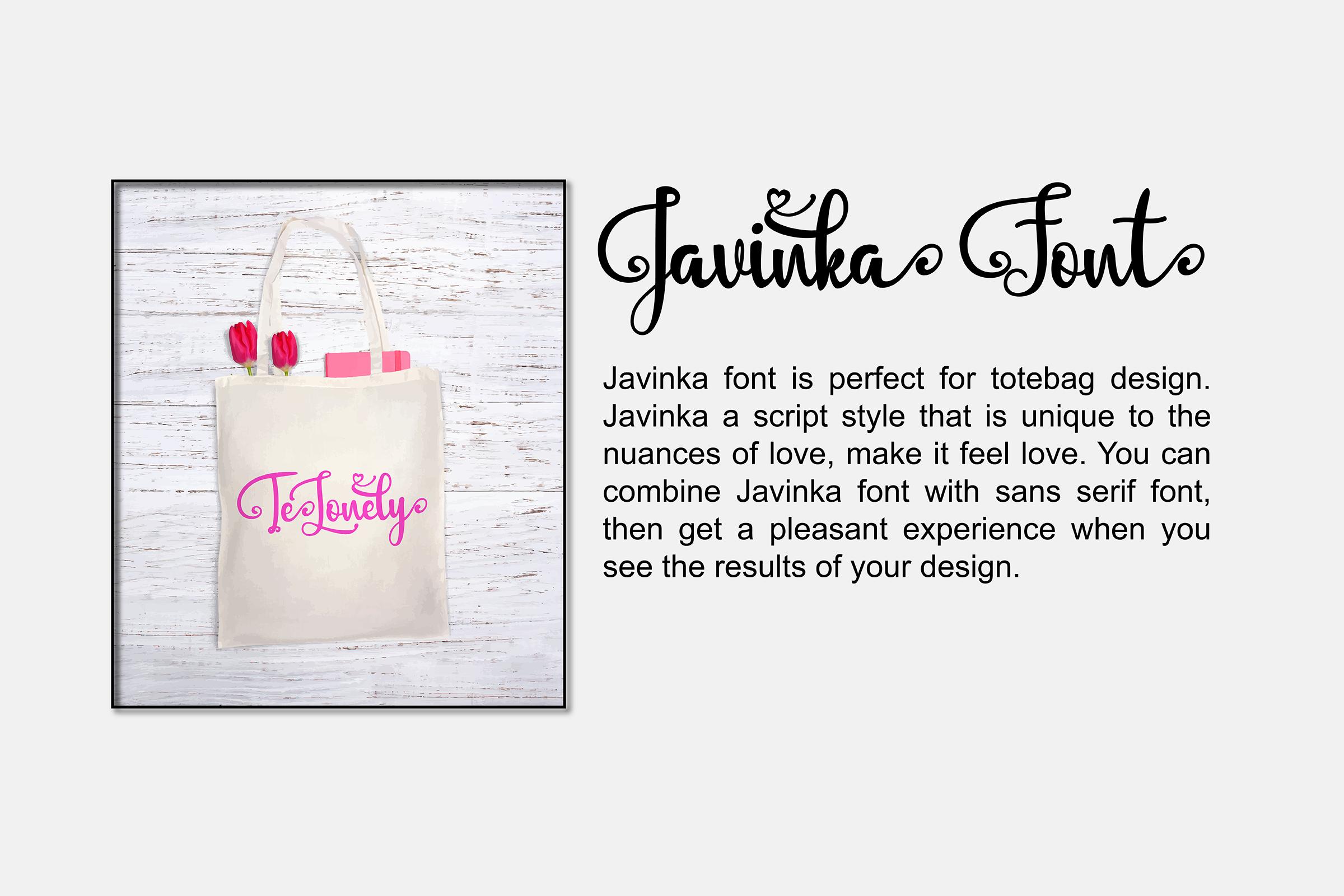 Javinka font example image 5