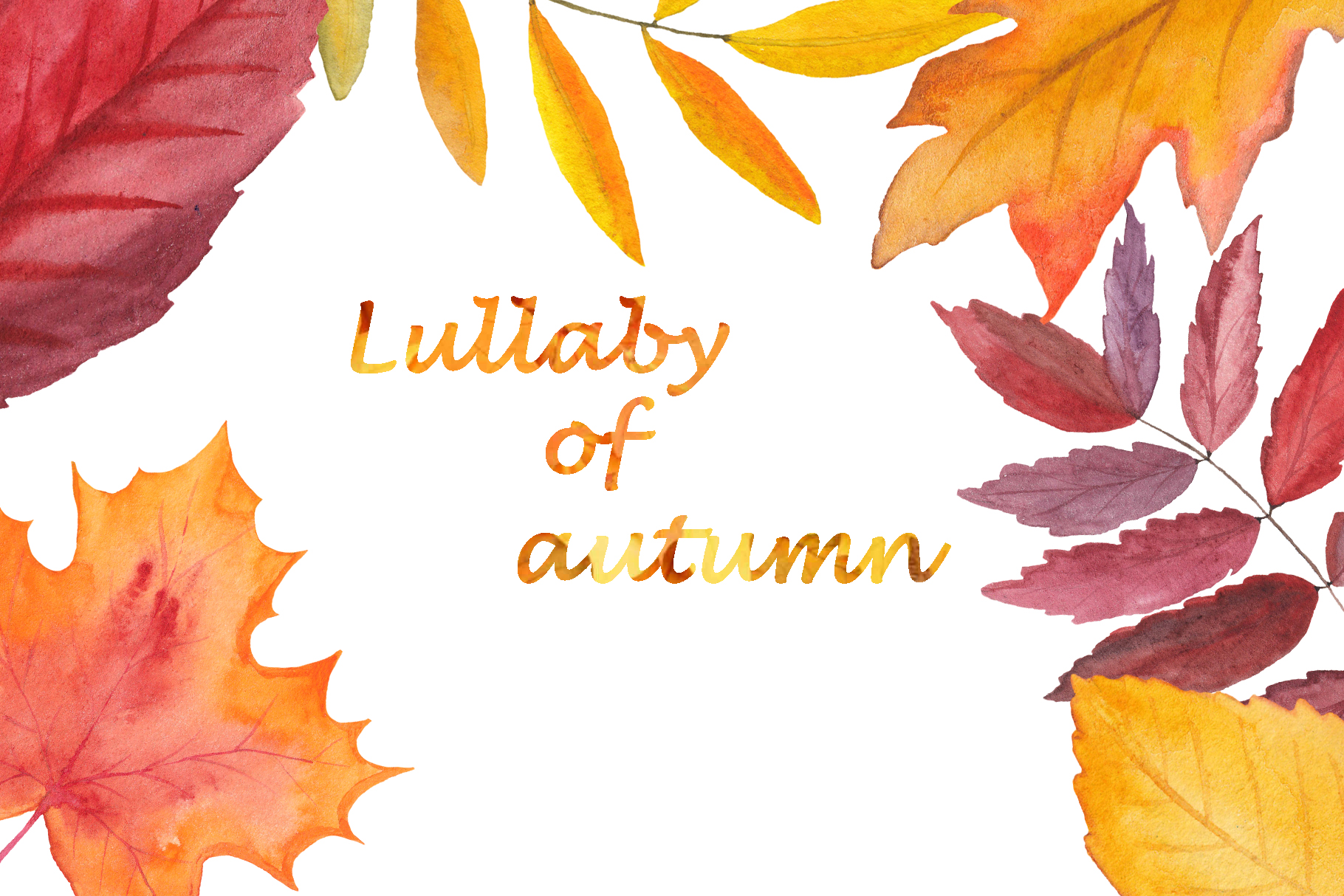 Lullaby of Autumn. Watercolor collection example image 11