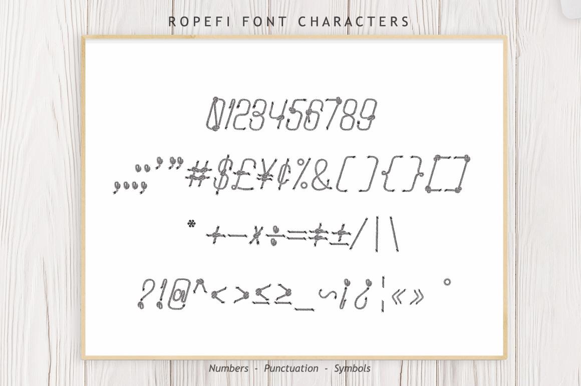Ropefi Font example image 10