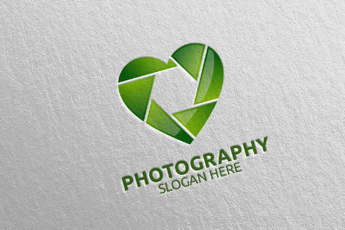 Abstract Camera Photography Logo 8 example image 2