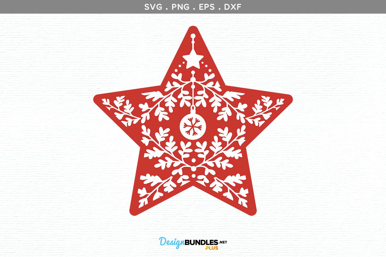 Christmas Star - svg, printable example image 2
