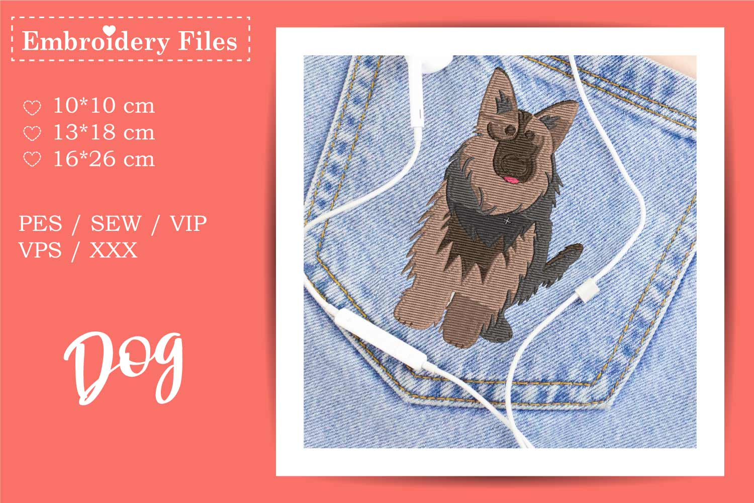 Dogs - Mini Bundle - Embroidery Files for Beginners example image 11
