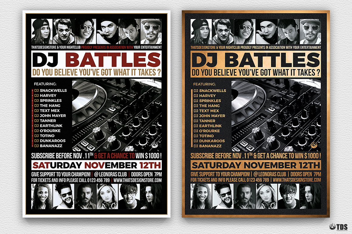 DJ Battle Flyer Template V4 example image 2