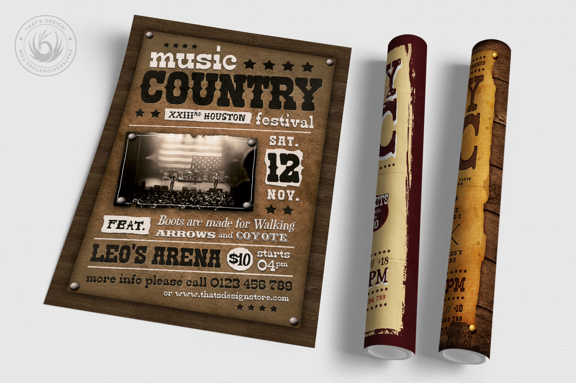 Country Music Flyer Bundle V2 example image 6