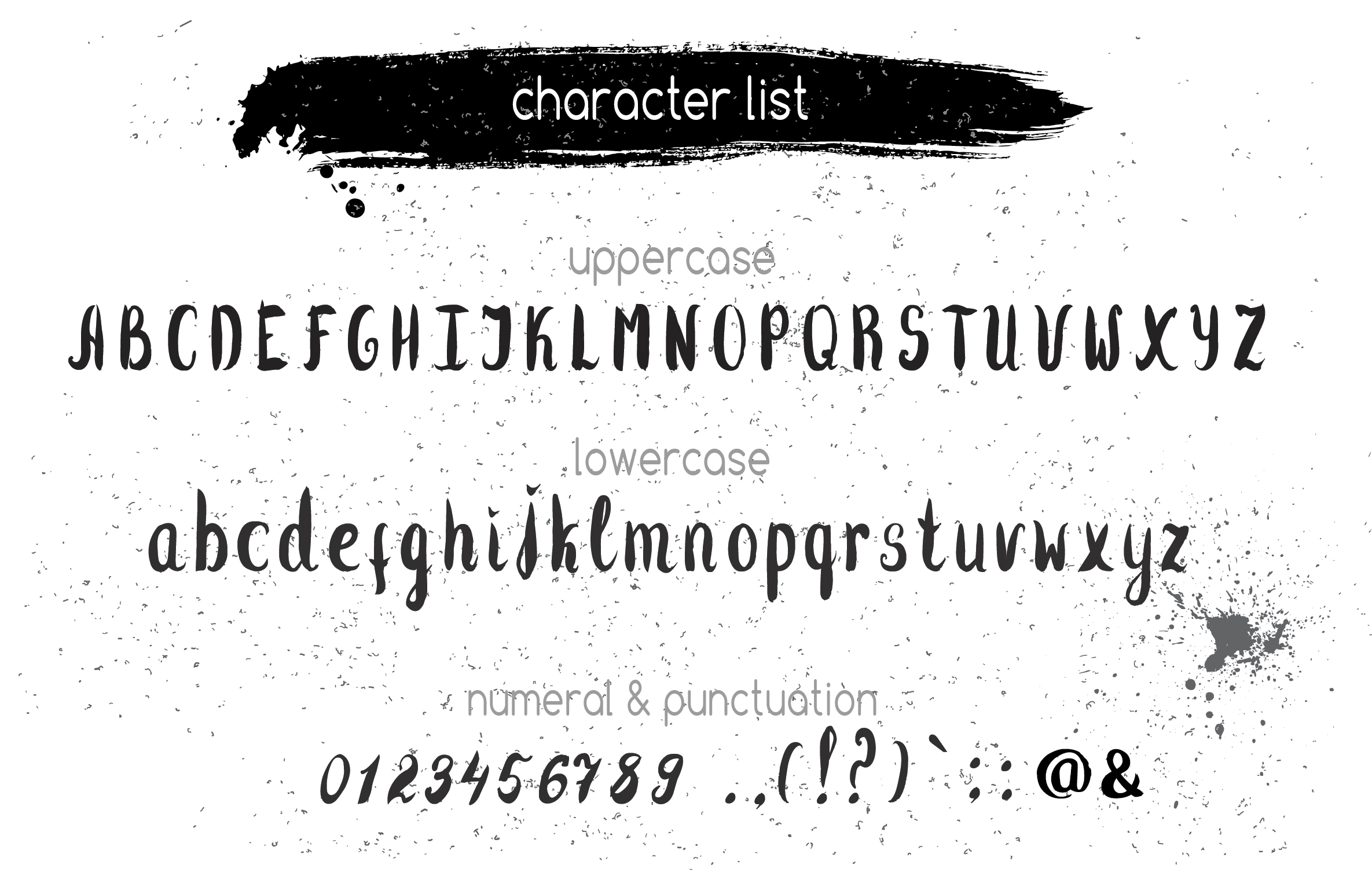 Flossy Tail brush handwritten font example image 2