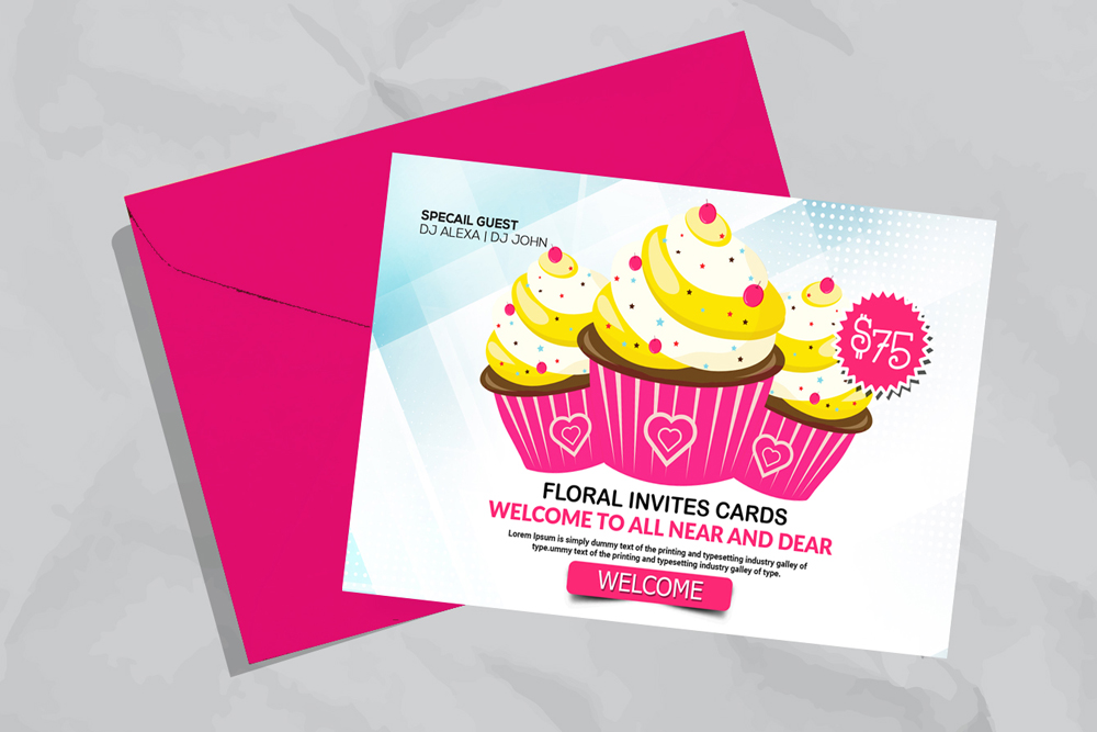 Ice cream Discount Card Template example image 3