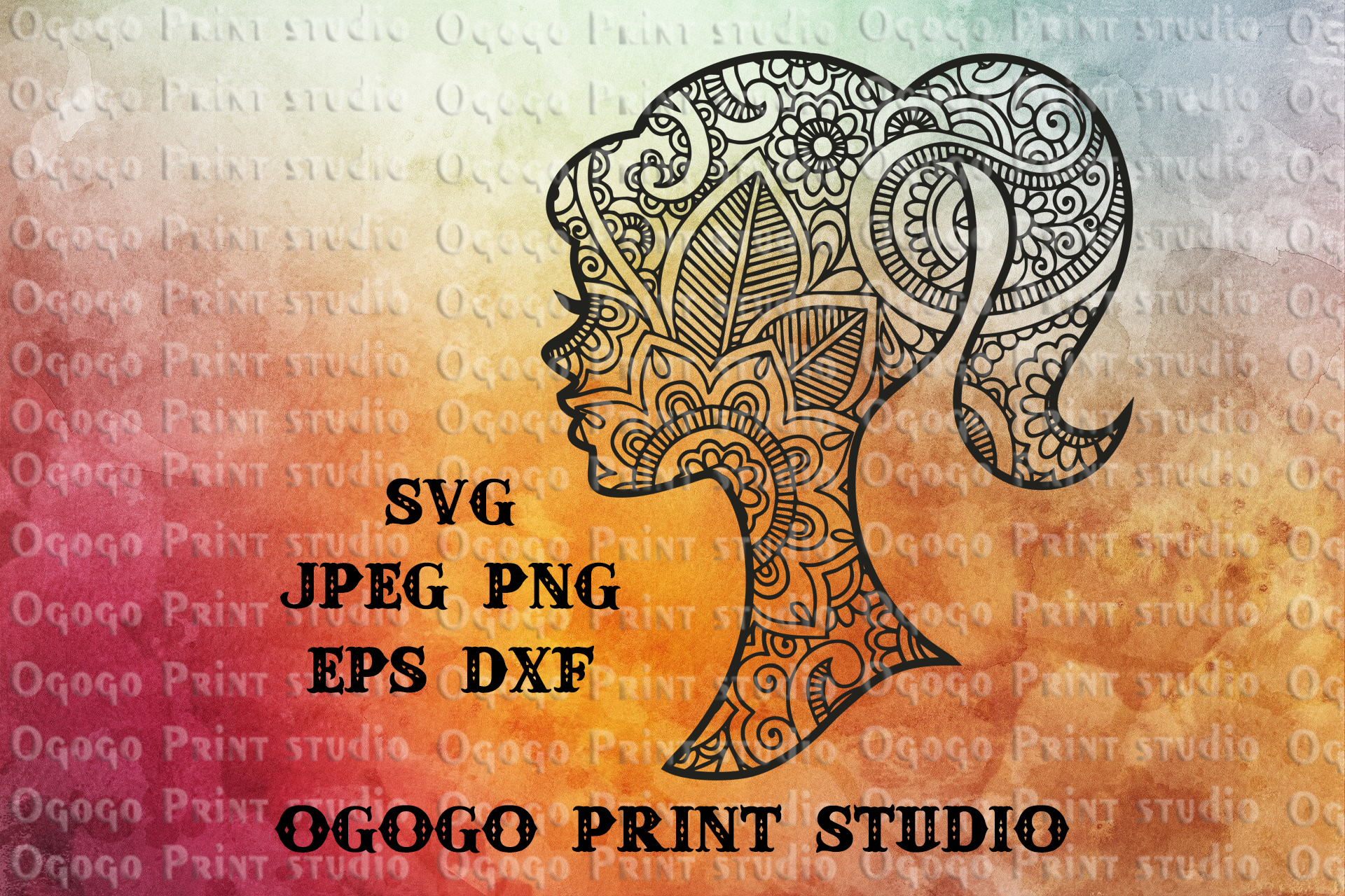 Woman SVG, Girl SVG, Zentangle SVG, Mothers day svg, Cricut example image 1