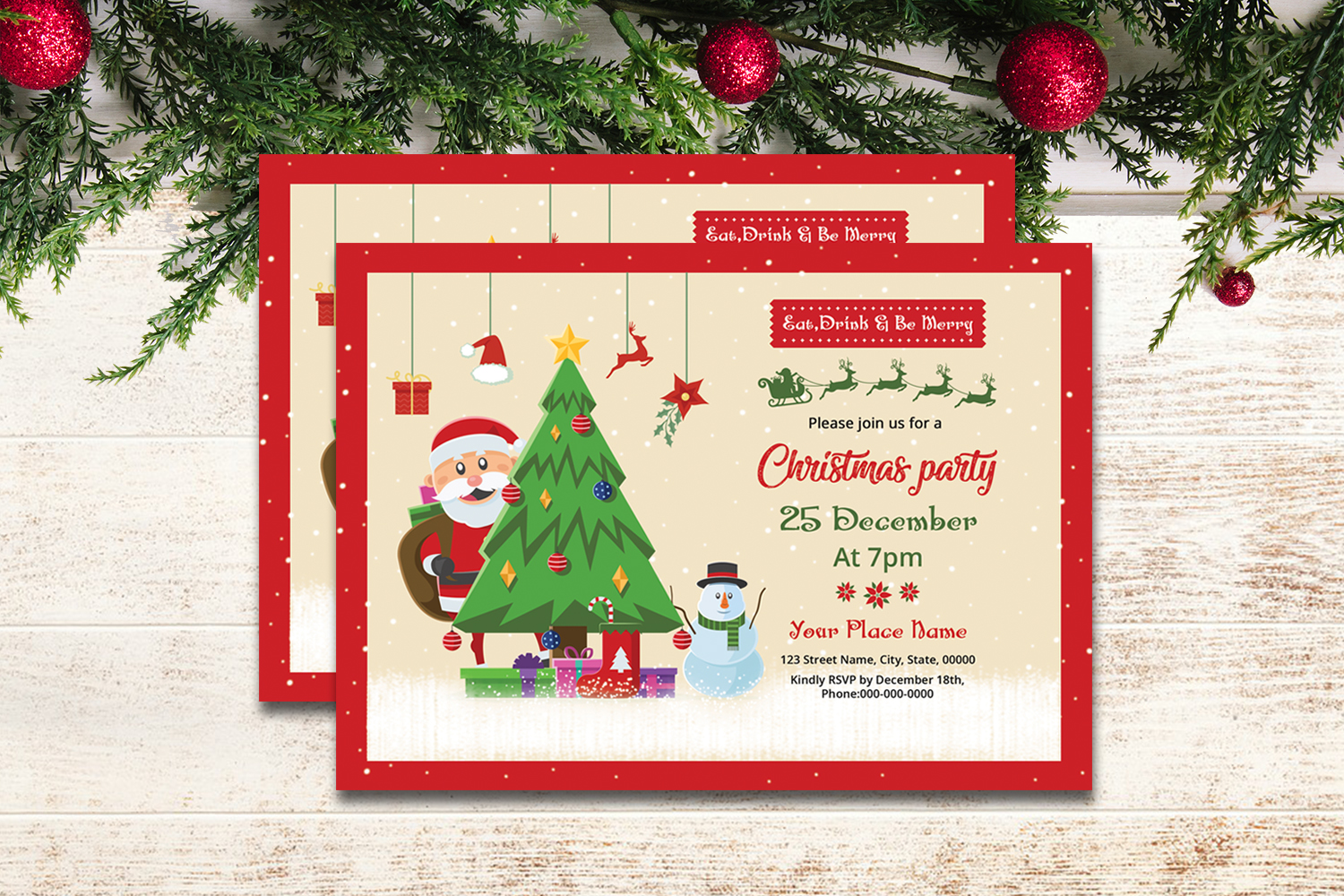 Christmas Party Invitation example image 2