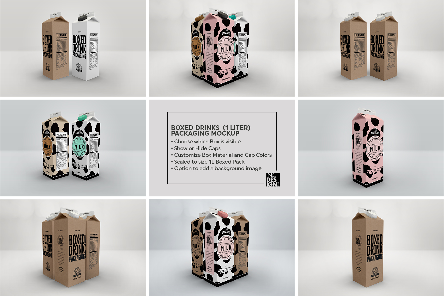 Boxed Drink Liquid Packaging Mockups example image 3