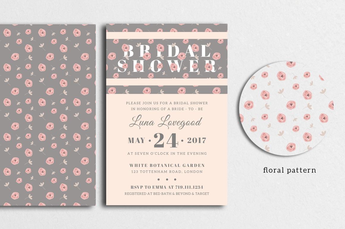 Floria - Bridal Shower Invitation example image 2