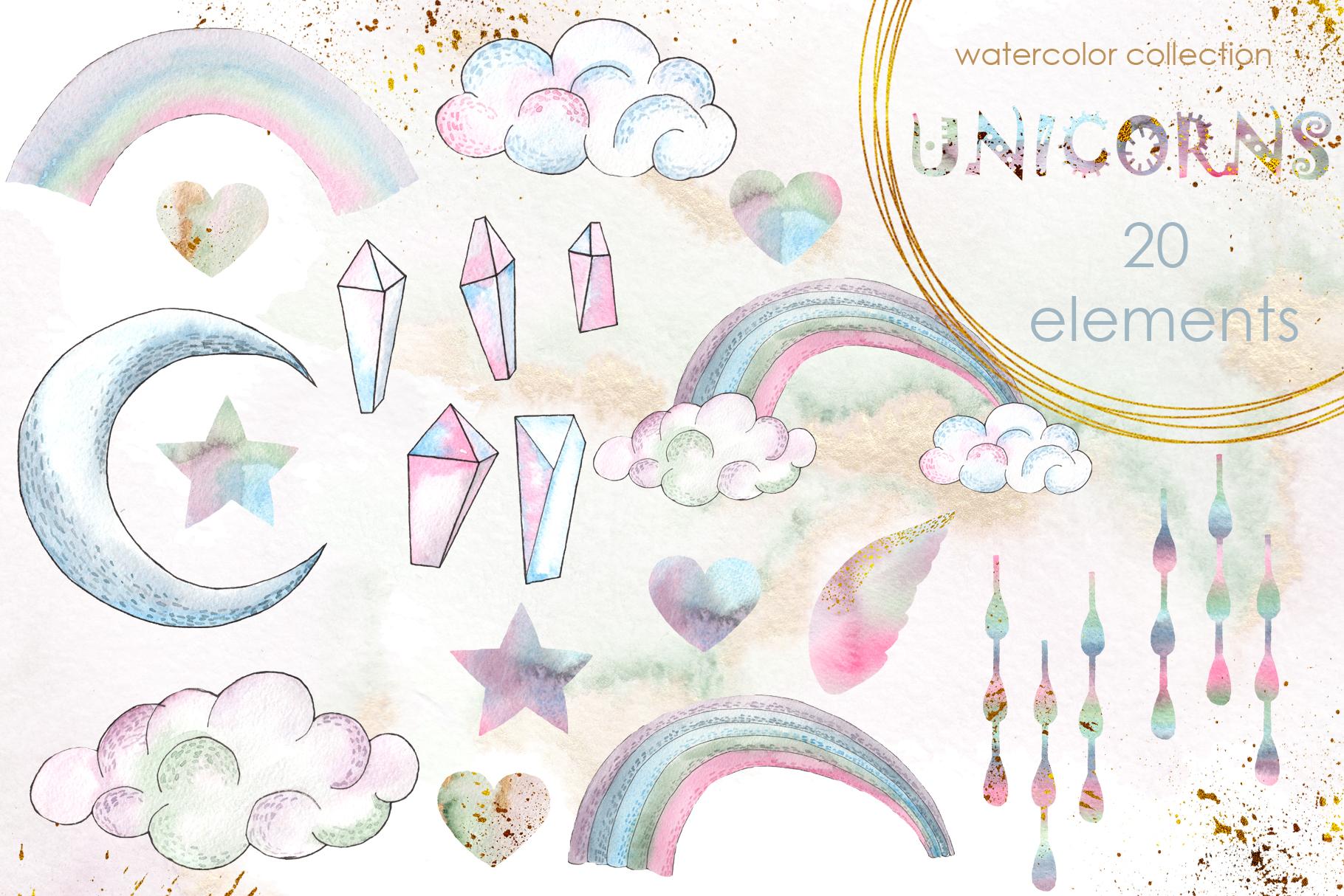 Charming Unicorns Bundle example image 22