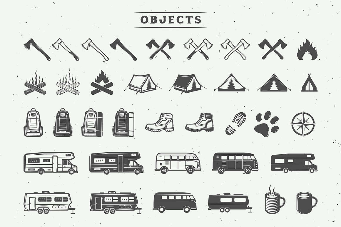 Camping Outdoor Logo Creation Kit example image 4