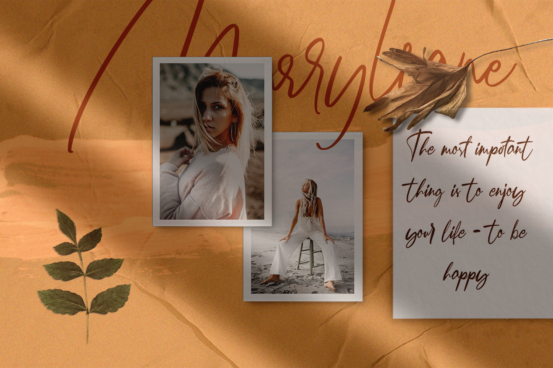 Marryliane Handwriting Font example image 2
