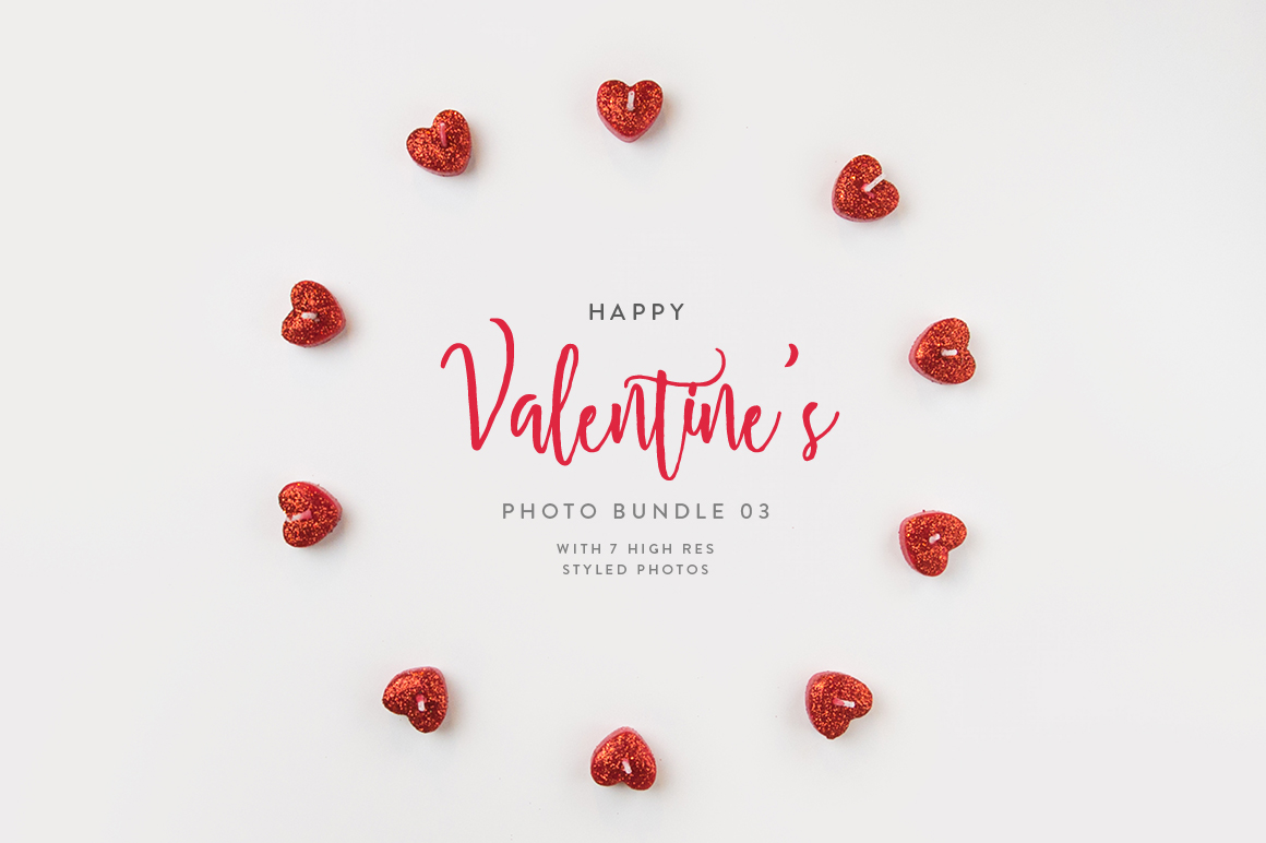 Valentine's Styled Photo Bundle - Red example image 4