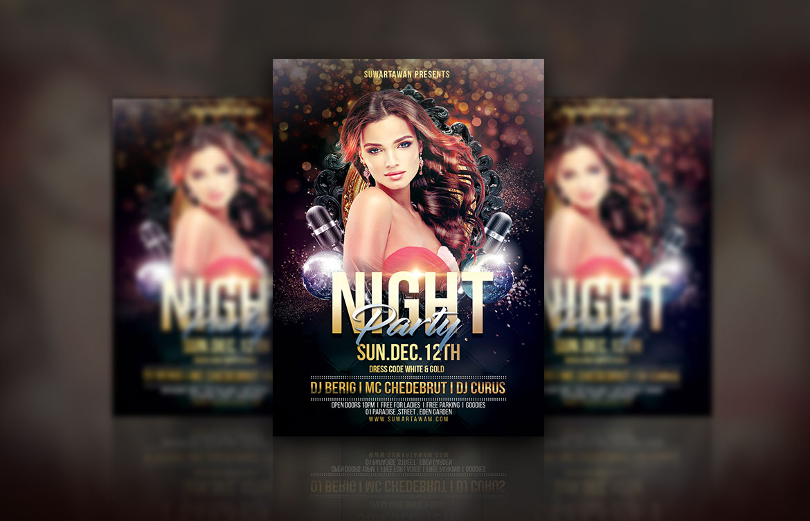 Night Party Flyer example image 2