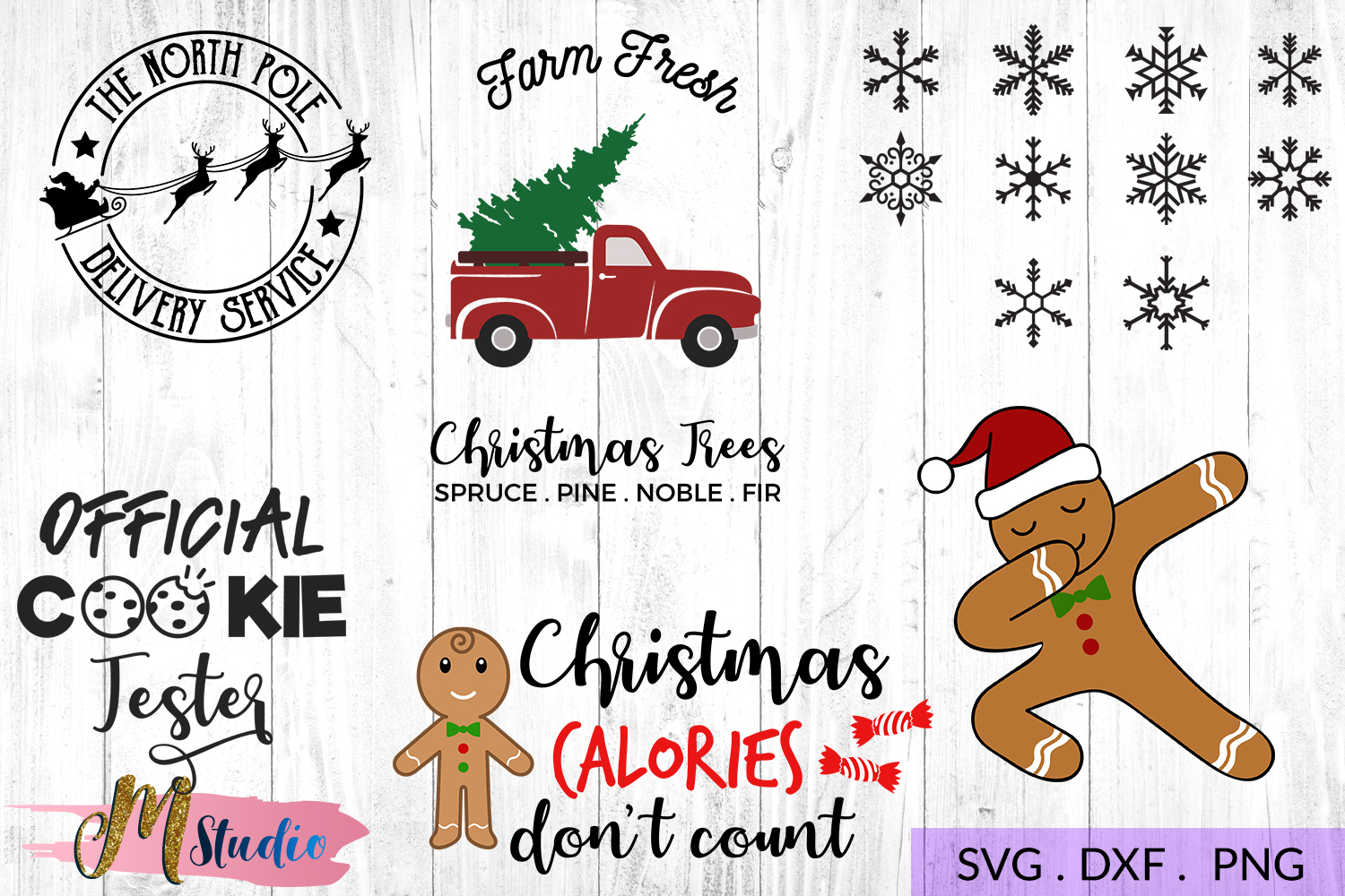 The big christmas svg bundle, Christmas SVG Cut File. example image 4