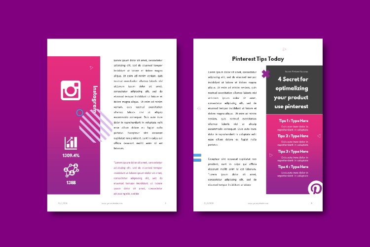 Social Media Marketing Tips eBook Template Keynote Presentat example image 6