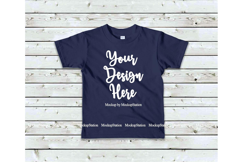 Kids Tshirt Mockup Bundle, Basic Toddler Shirt Mock Up Set example image 5