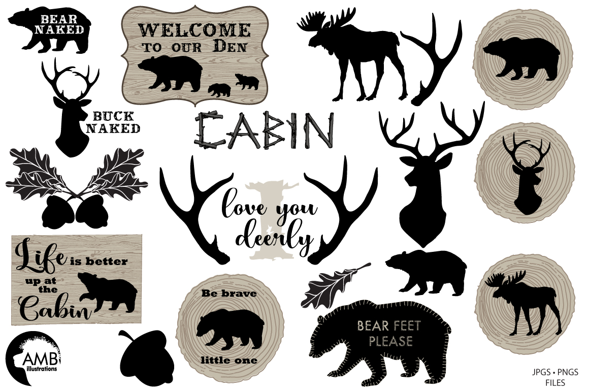 Rustic Cabin Elements,graphic, illustration, clipart example image 5