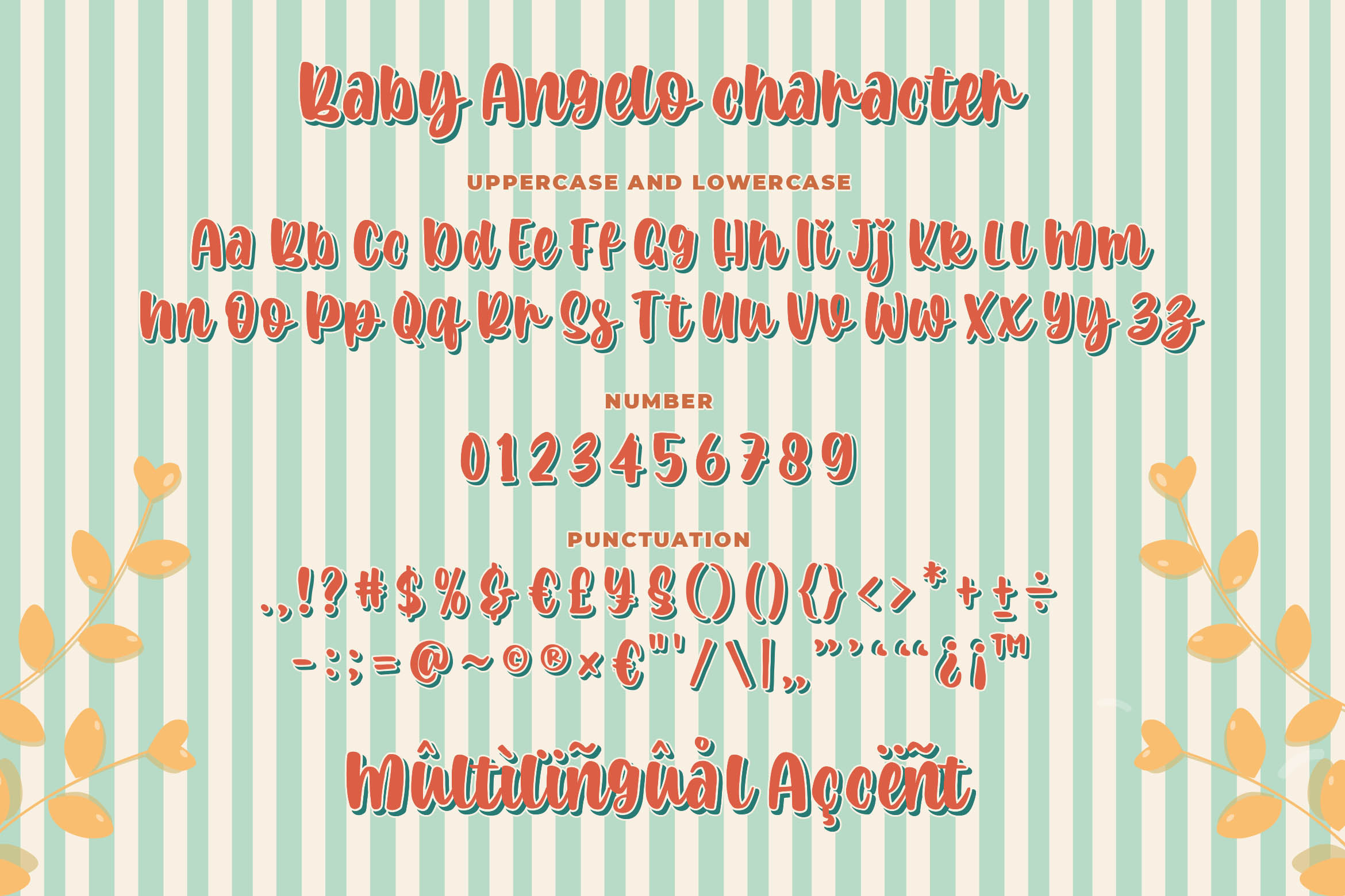 Baby Angelo - Quirky Layered Font example image 5