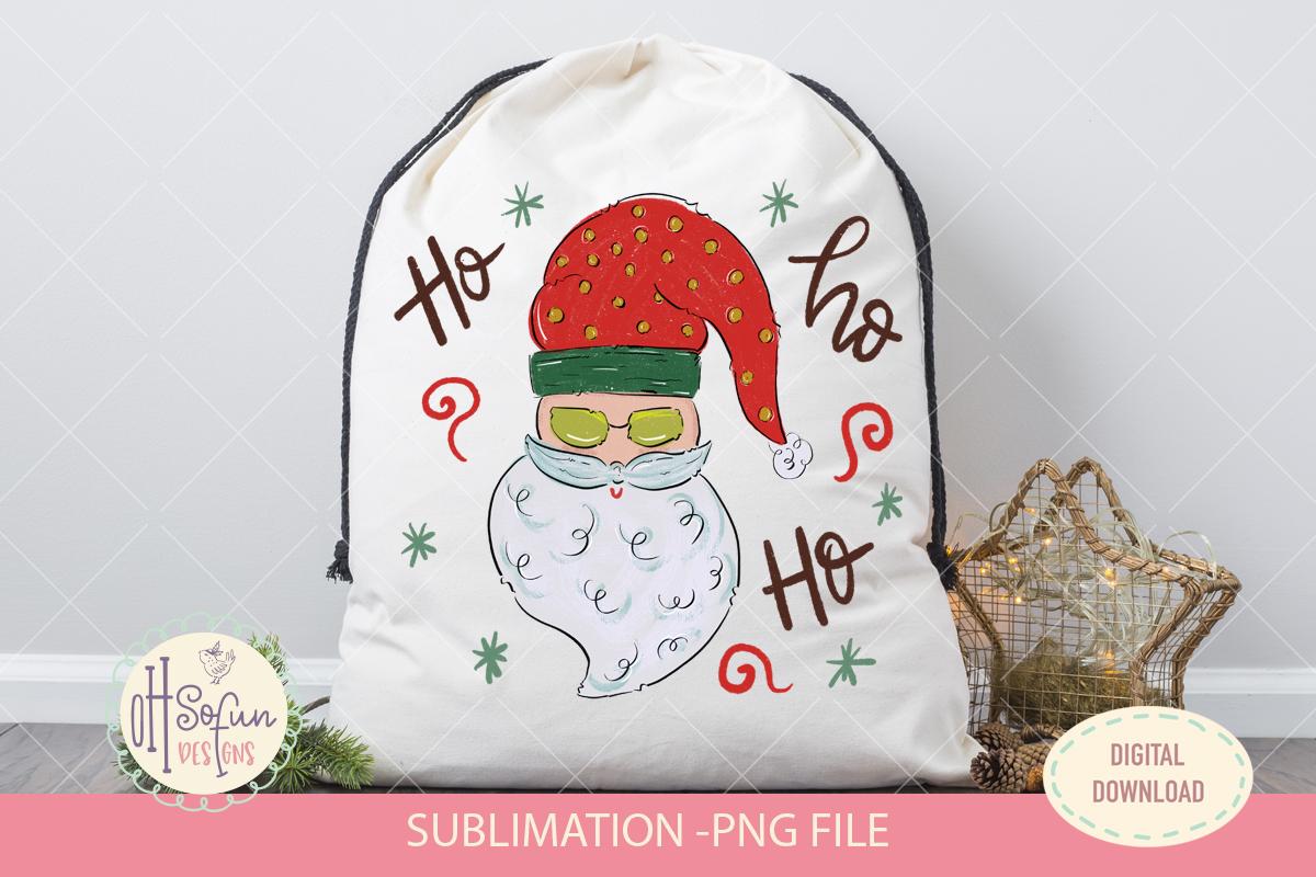 Santa claus ho ho ho, Christmas sublimation png, doodle example image 2
