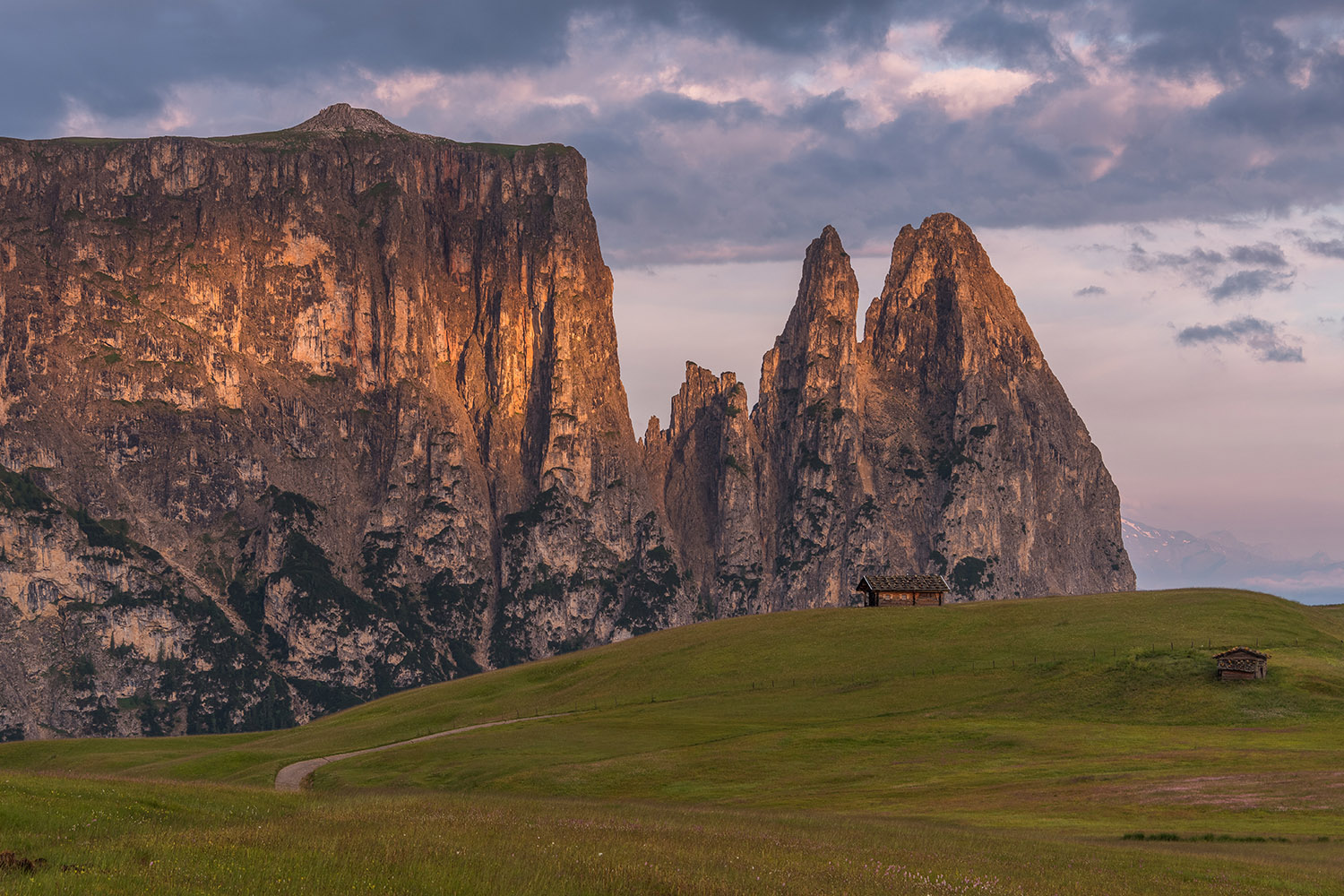 Cottages at Alpe di Siusi in the Dolomites example image 1