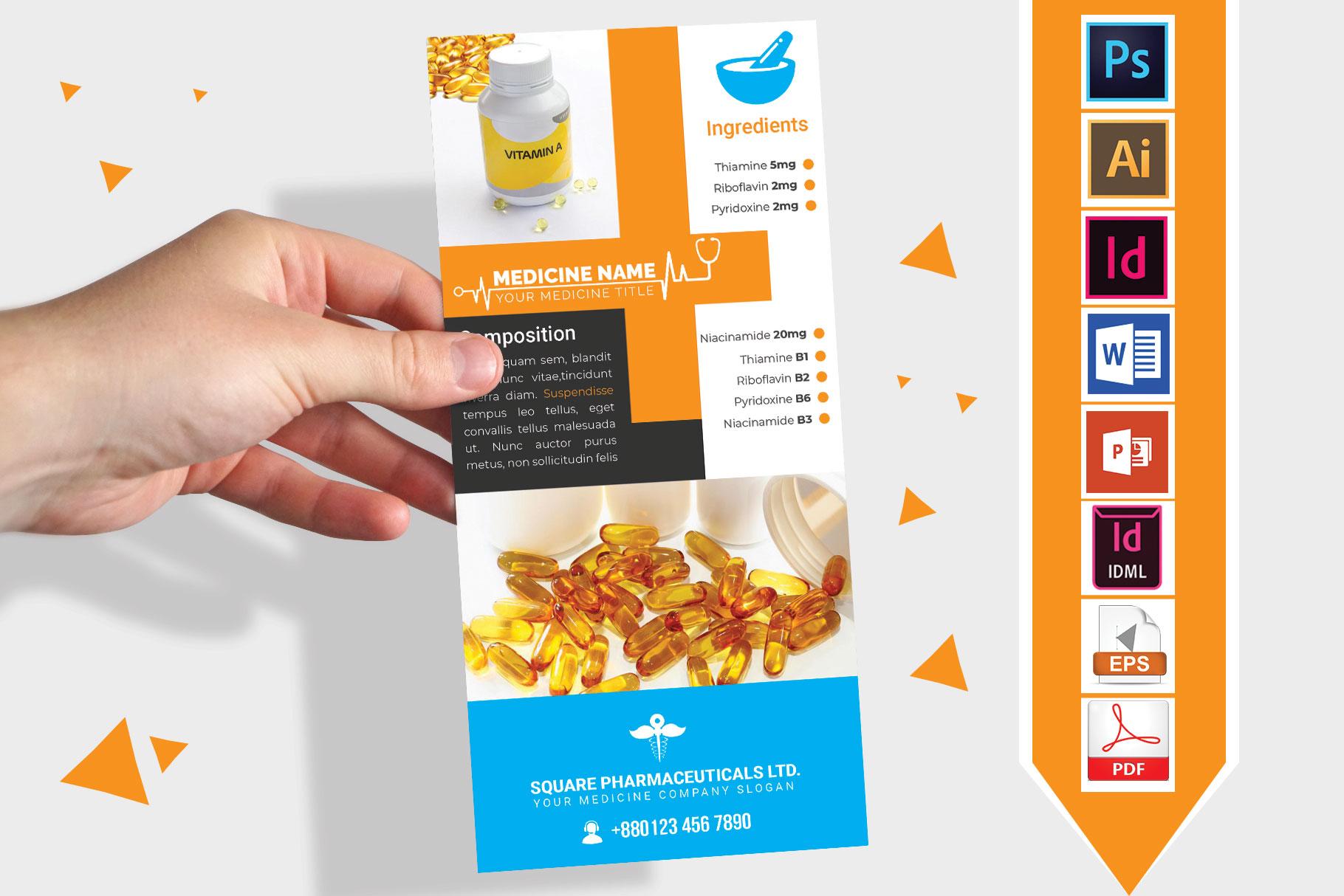 Rack Card | Medicine Promotion DL Flyer Vol-01 example image 1