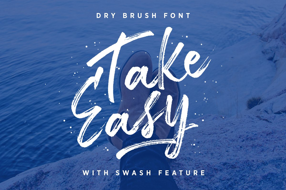 TakeEasy Brush Font example image 1