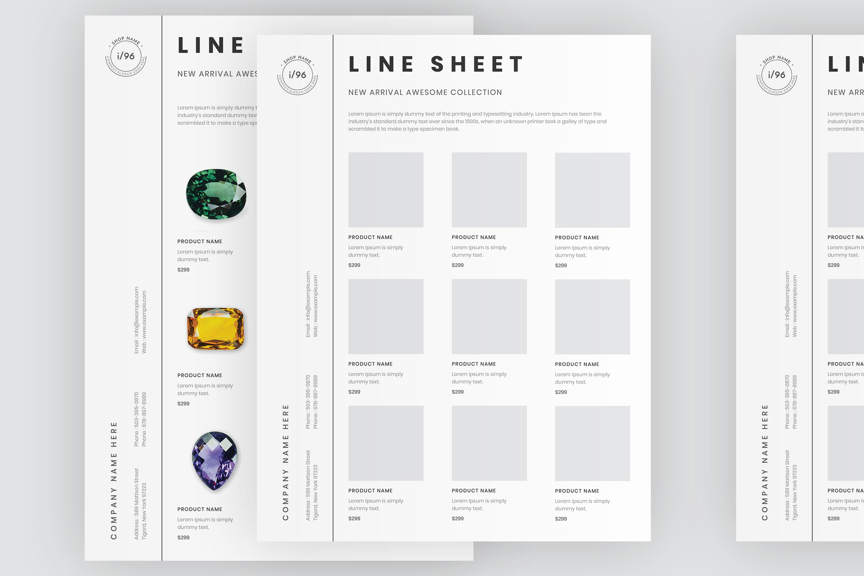 Portrait line sheet flyer layout example image 4