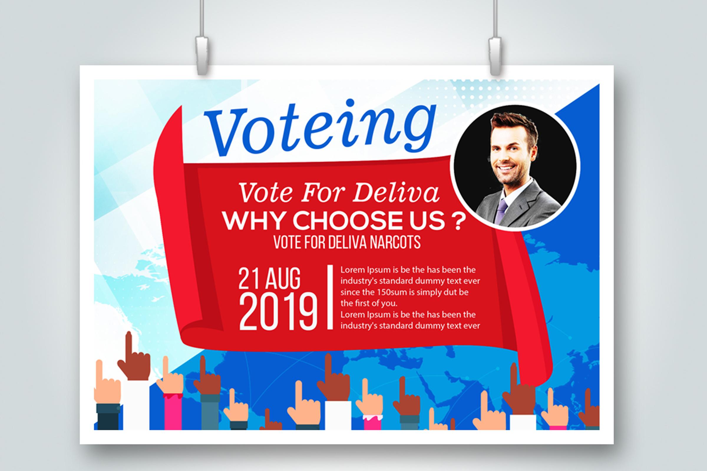 4 Horizontal Election Voting Flyers Bundle example image 5