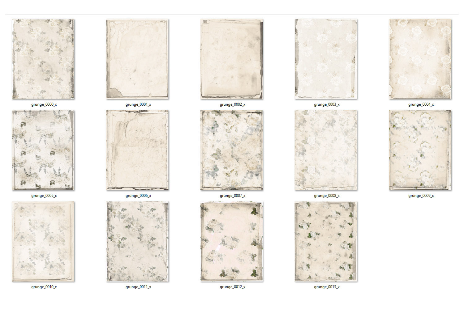 Ivory Shabby Notebook Paper example image 3