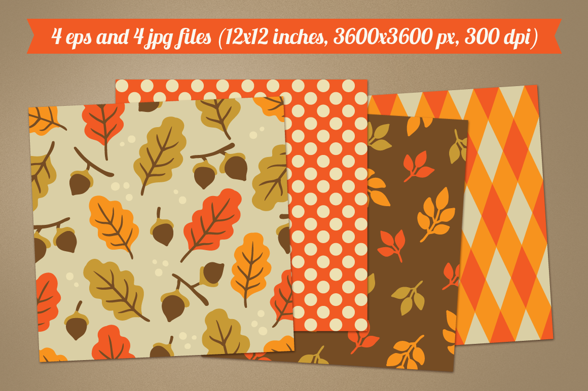 Autumn Seamless Patterns example image 2