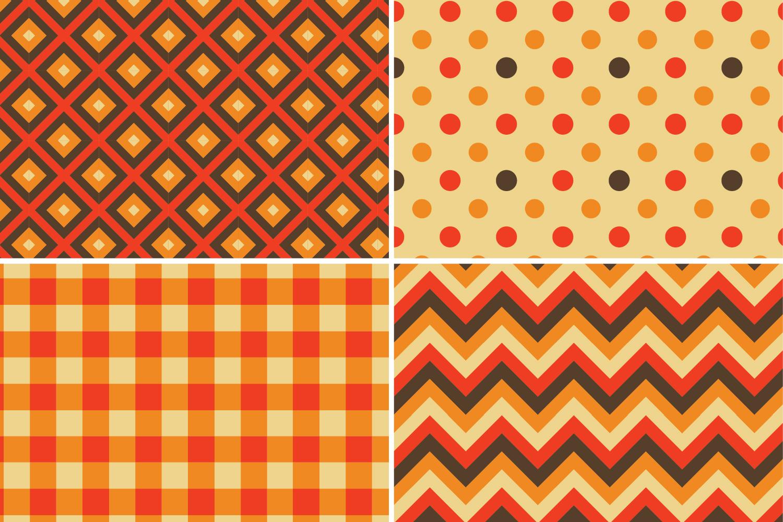 8 Seamless Autumn Patterns Set 2 example image 2